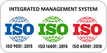 ISO 12647 certification, ISO 9001, ISO 14001, ISO 45001